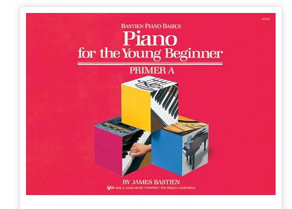 Bastien Piano for the Young Beginner Primer