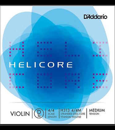 Helicore Violin Single D String Steel Core Titanium Wound