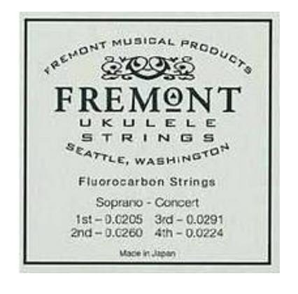 Fremont Soprano/Concert Clear Fluorocarbon Ukulele String Set