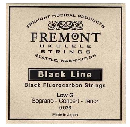 Fremont Black Fluorocarbon Low G String Single