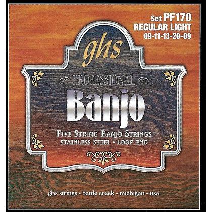 GHS Stainless Steel 5-String Banjo Strings Light