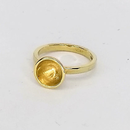 Gold Vermeil Cup Ring