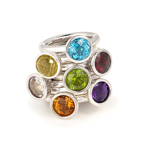Catherine Faceted Gemstone Ring