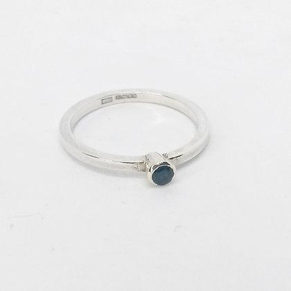 Blue Tourmaline Silver Ring