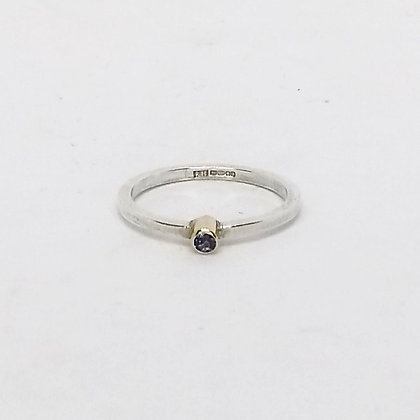 Iolite, Gold & Silver Ring