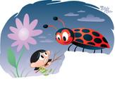 """Shrinking Violet vs. A Ladybug!"""