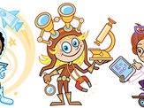 """""""Girls' Science & Engineering Day"""" characters"""