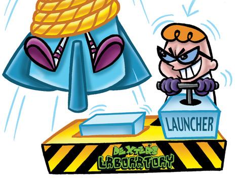 """Dexter's Laboratory: """"Dexter/DeeDee Launcher"""""""