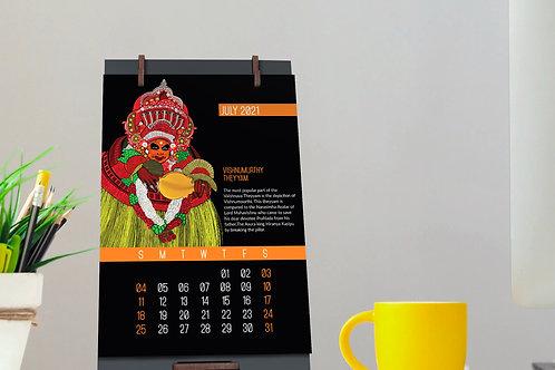 Theyyam Calendar designed by Anupama