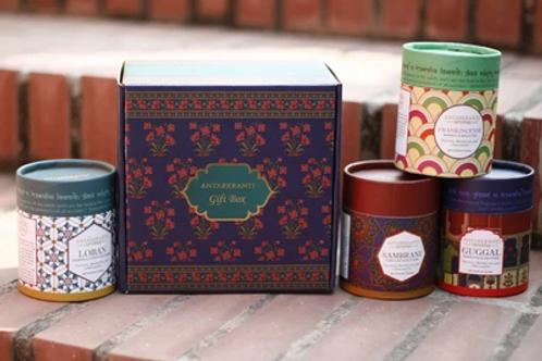 Antarkranti - ARANYAKA Aroma Gift Box | Charcoal Free Premium Dry Incense Cones