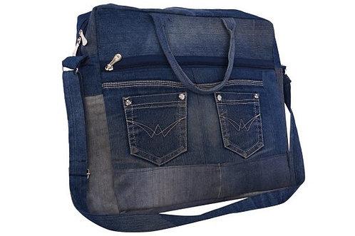 Twirl Denim Laptop Bag