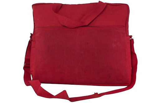 Twirl Red Fabric Laptop Bag