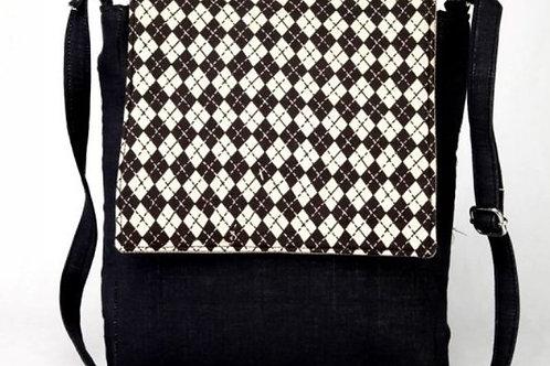 Black & White Printed Sling Bag