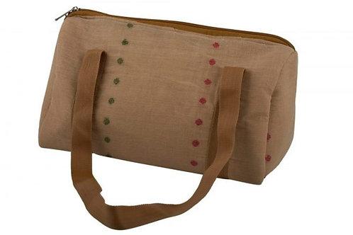 Upcycled Beige Tiffin bag