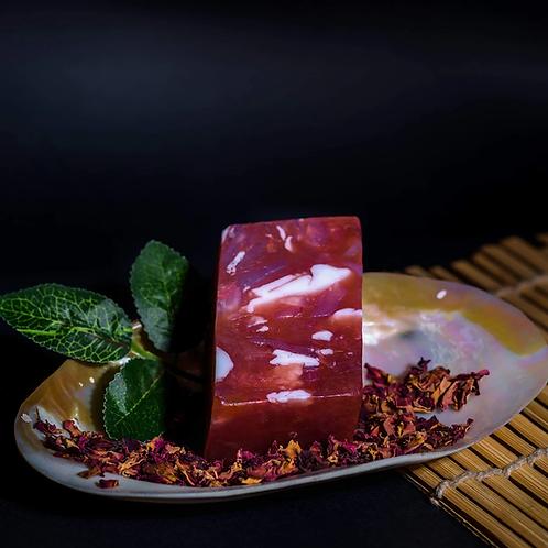 Root Chakra Red Jasper Stone Soap