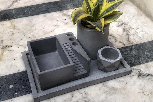 Concrete Desktop Kit (without plant)