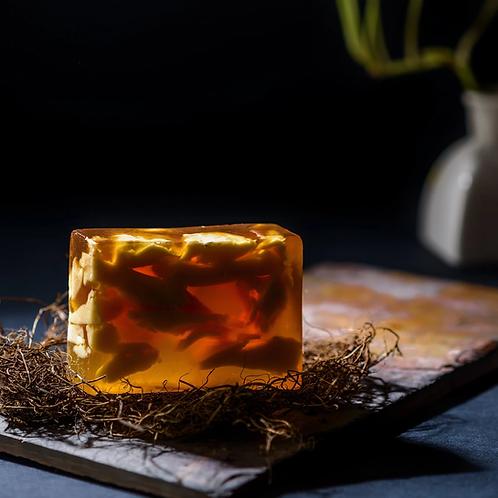 Solar Plexus Chakra Citrine Stone Soap