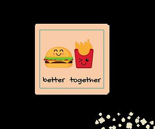 Better Together Fridge Magnet