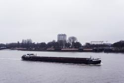 Ship on The Scheldt