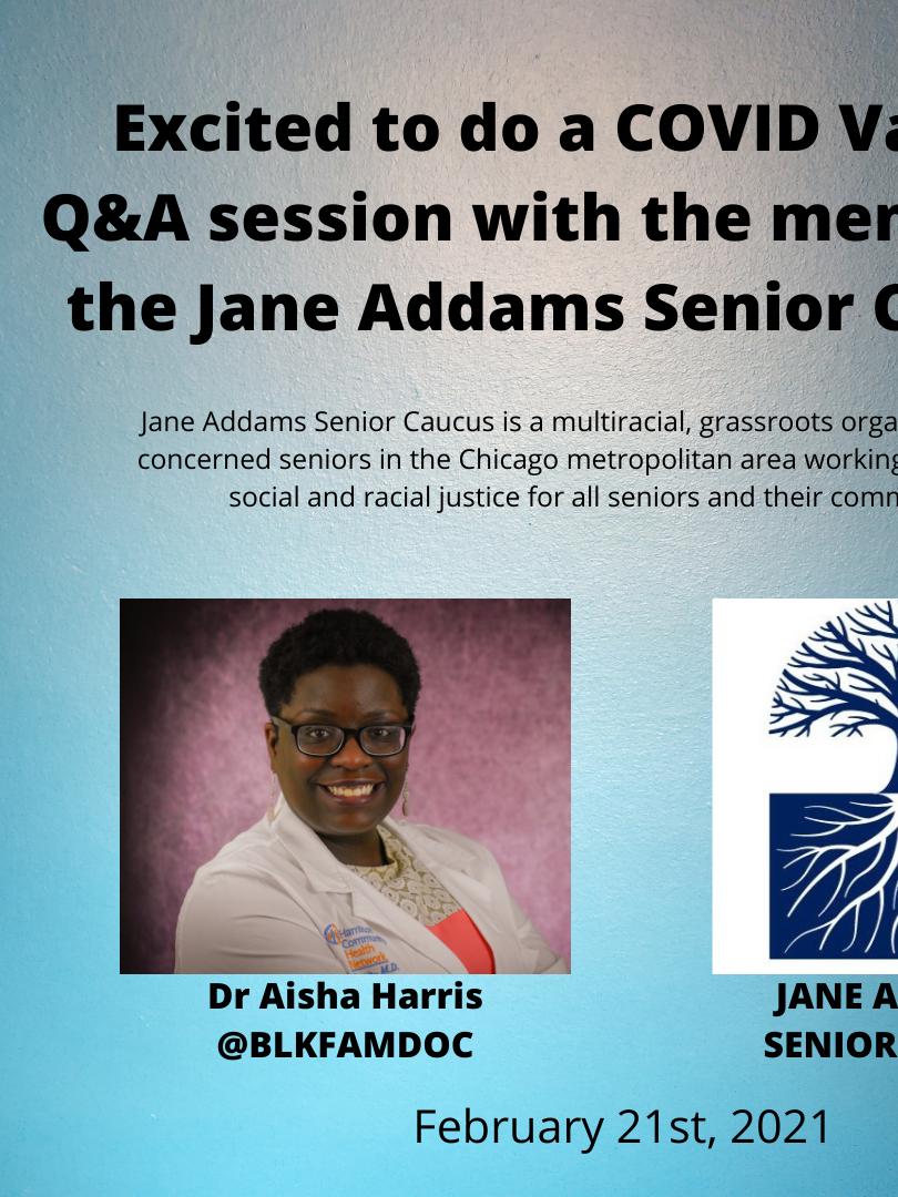 Jane Addams Senior Caucus COVID Q&A Session