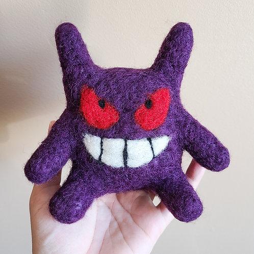 Needle Felted Purple Ghost