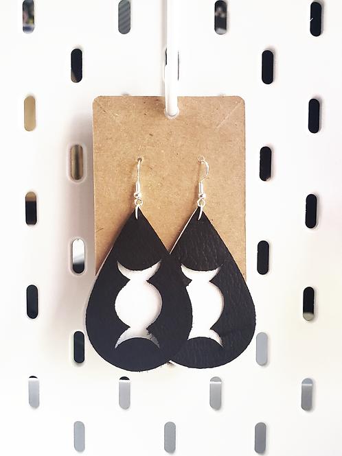 Triple Moon Layered Teardrop Earrings