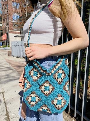 Granny Square Market Bag Crochet Pattern