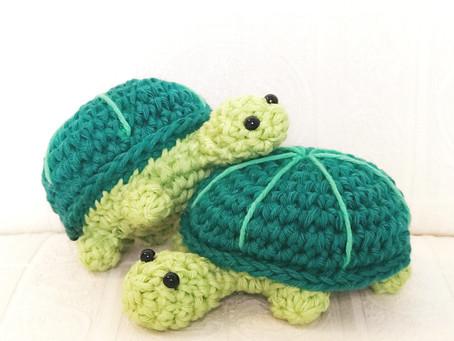 Free Pattern! Crochet Baby Turtle Amigurmi