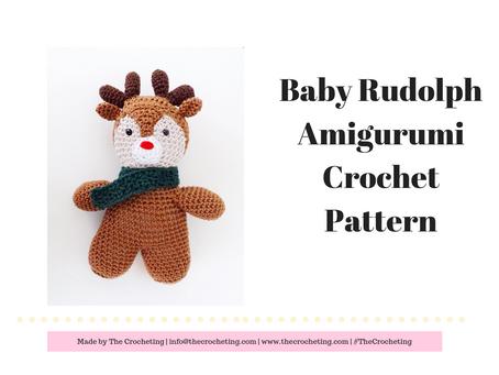 Free Pattern! Baby Rudolph Amigurumi Crochet Pattern