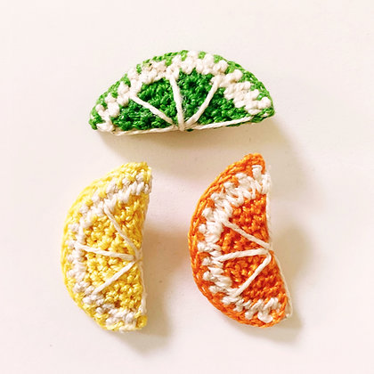 Citrus Slice Earrings Crochet Pattern