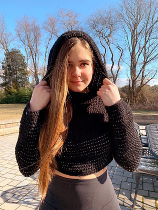 London Cropped Sweatshirt Crochet Pattern