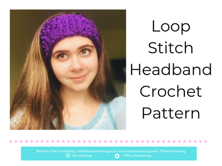 FREE PATTERN: Crochet Loop Stitch Headband