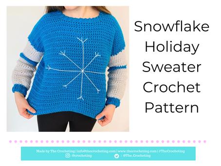 Free Pattern: Crochet Snowflake Holiday Sweater