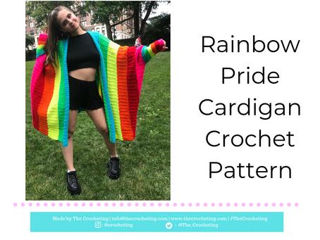 FREE PATTERN: Crochet Rainbow Pride Cardigan