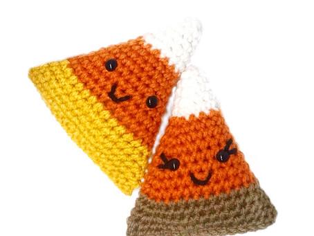 Free Pattern! Crochet Candy Corn Couple