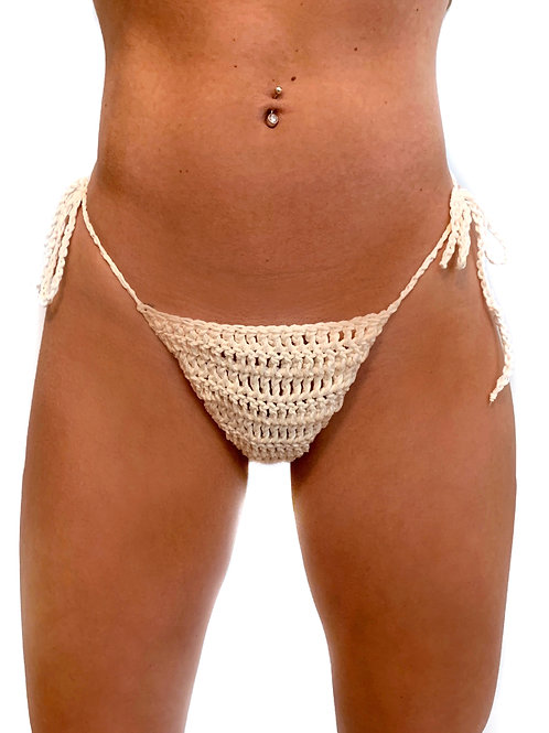 Kayla Swim Bottom - White