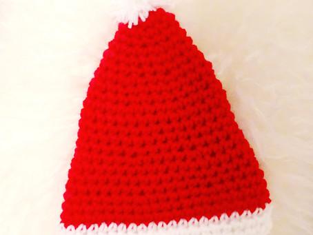 Crochet Baby Santa Hat Pattern