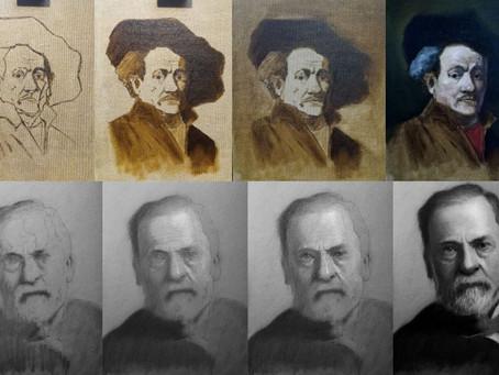 Maalaaminen on piirustuksen värittämistä maalilla