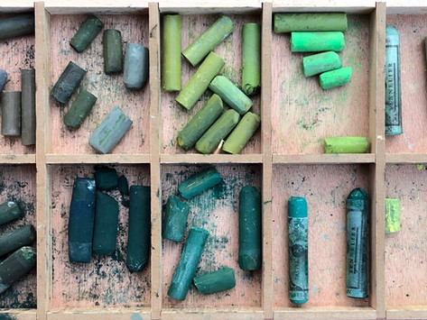 Näin maalaat luonnollisia vihreitä pastelleilla