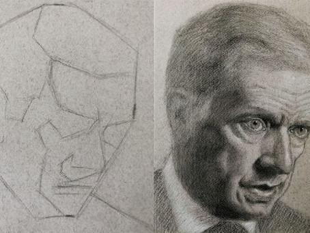 Opi piirtämään realistinen muotokuva