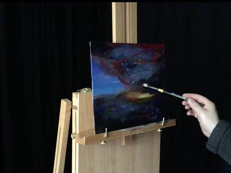 Miten maalaan abstraktin avaruusmaiseman? - Minun prosessini