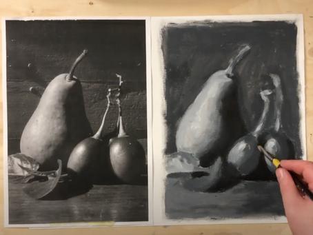 Miten akryyliväreillä maalataan? osa 2. - Hyvä tapa aloittaa maalaamisen harjoittelu