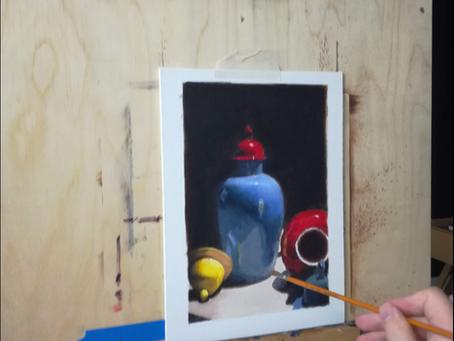 Näin maalaat fotorealistisen teoksen akryyliväreillä osa 1.
