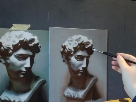 Maalaaminen on siveltimellä piirtämistä