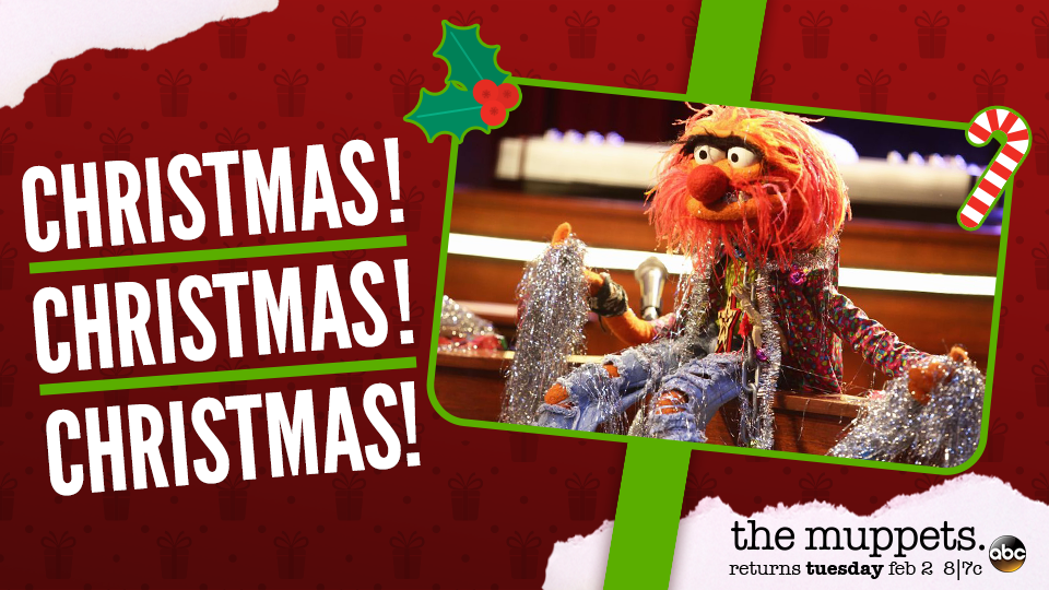 The Muppets - Animal Holiday Card