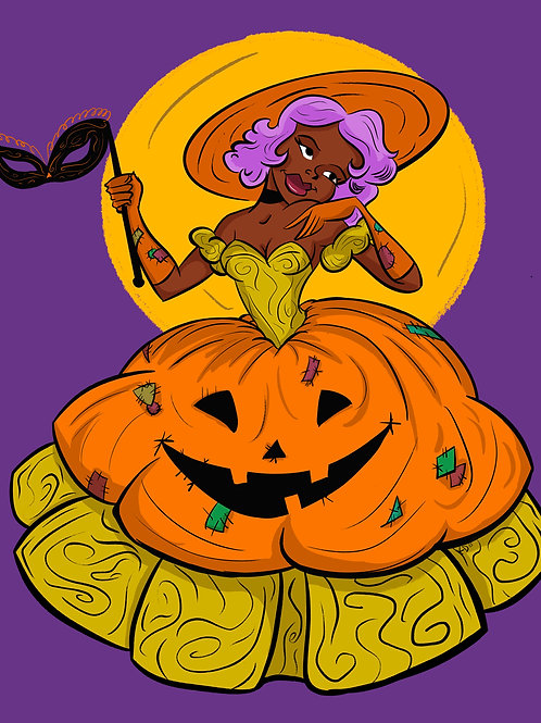 Pumpkin Darling Print 5x7