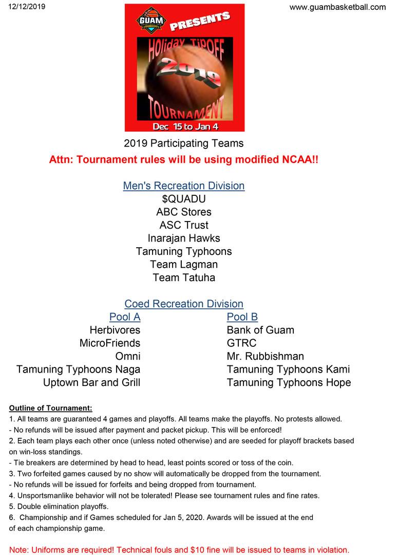 2019 HTO Teams