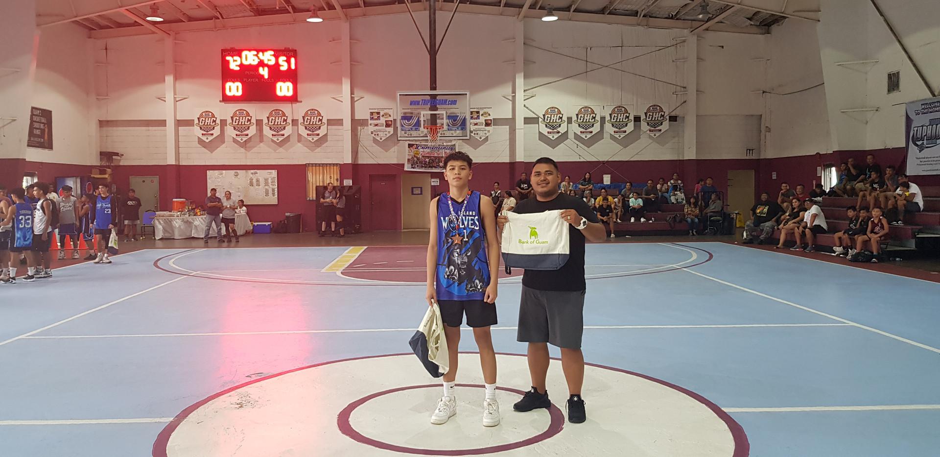 16U MVP & Top Scorer-EJ Cruz