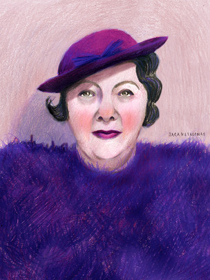 Woman in Purple