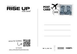 Postcard back for Rise Up